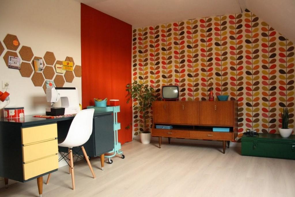 Vintage zolderkamer