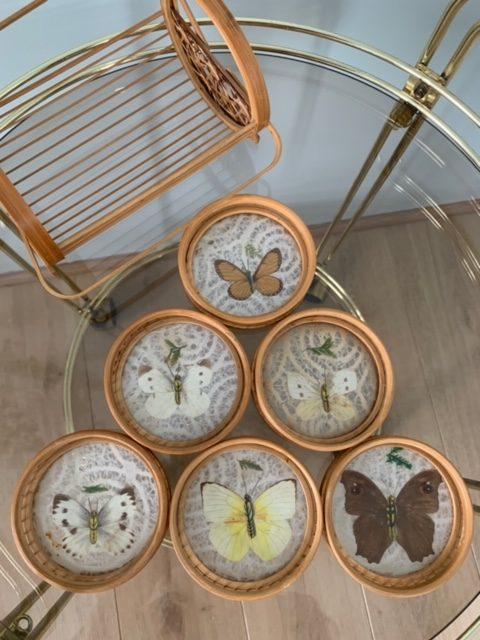 Super Vintage onderzetters met vlindermotief – Nuniya's Vintage Home NV-31